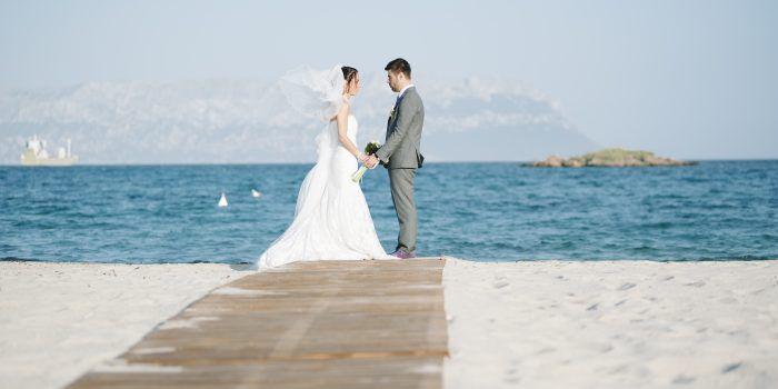 Matrimonio in spiaggia Cala Sassari, Olbia Costa Smeralda